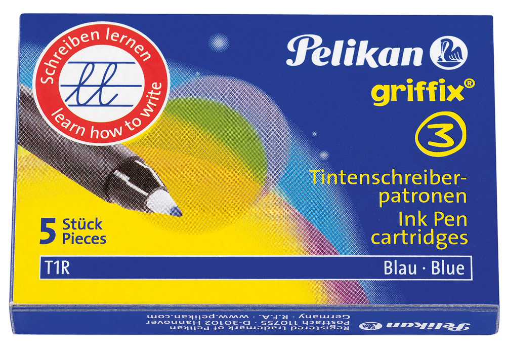 Vorschau: Pelikan Patrone für Tintenschreiber, Faltschachtel mit 5 St, blau löschbar
