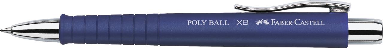 Faber-Castell Kugelschreiber Poly Ball XB - Mine M, dokumentenecht, blau