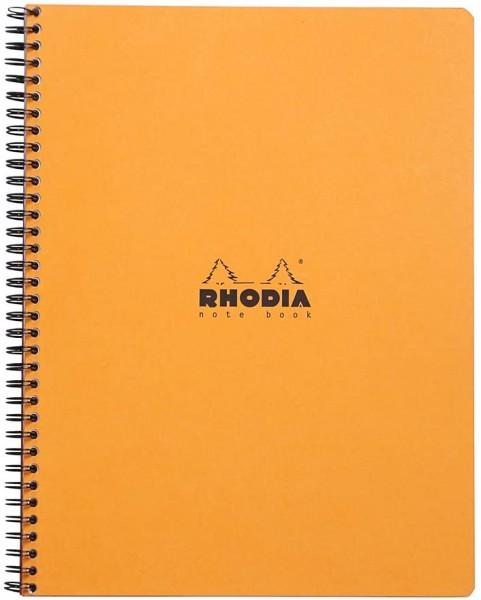 Rhodia 19310C Notizbuch (mit Spiralbindung, liniert mit Rand, 22,5 x 29,7 cm, 80 Blatt) 1 Stück farb