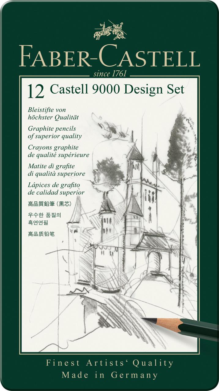 Faber-Castell Bleistift CASTELL 9000 12er Design  Set