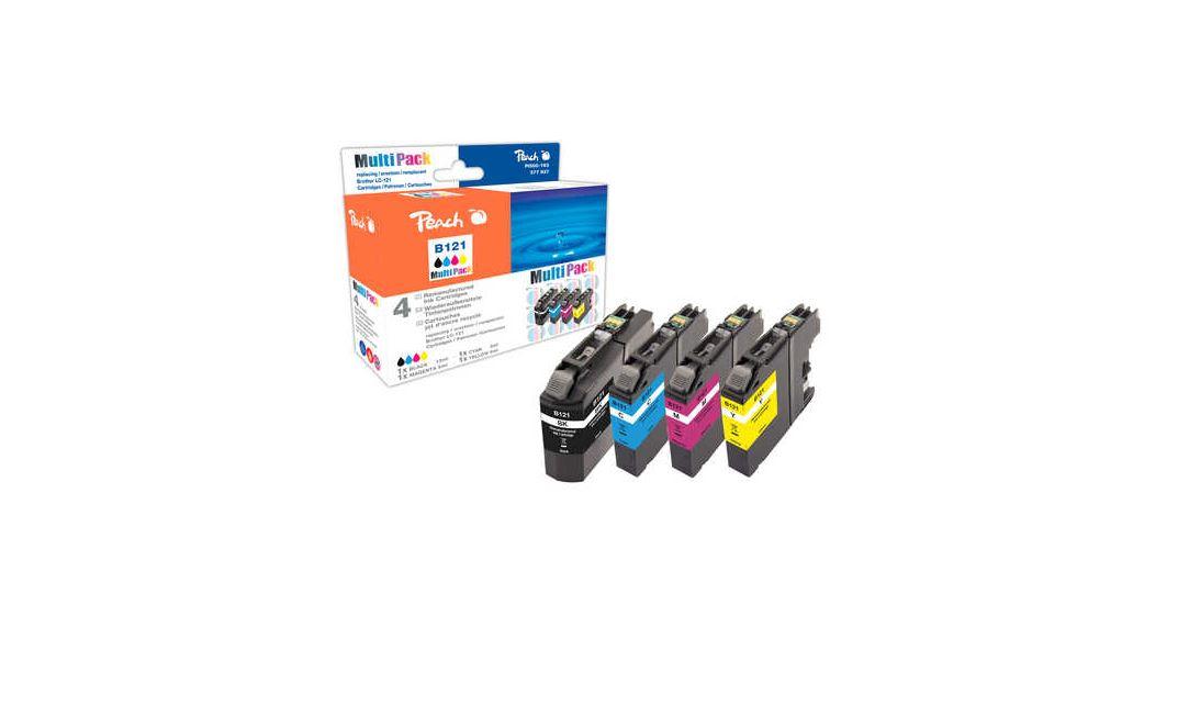 Peach Spar Pack Tintenpatronen kompatibel zu Brother LC-121, LC-121BK, LC-121C, LC-121M, LC-121Y, PI