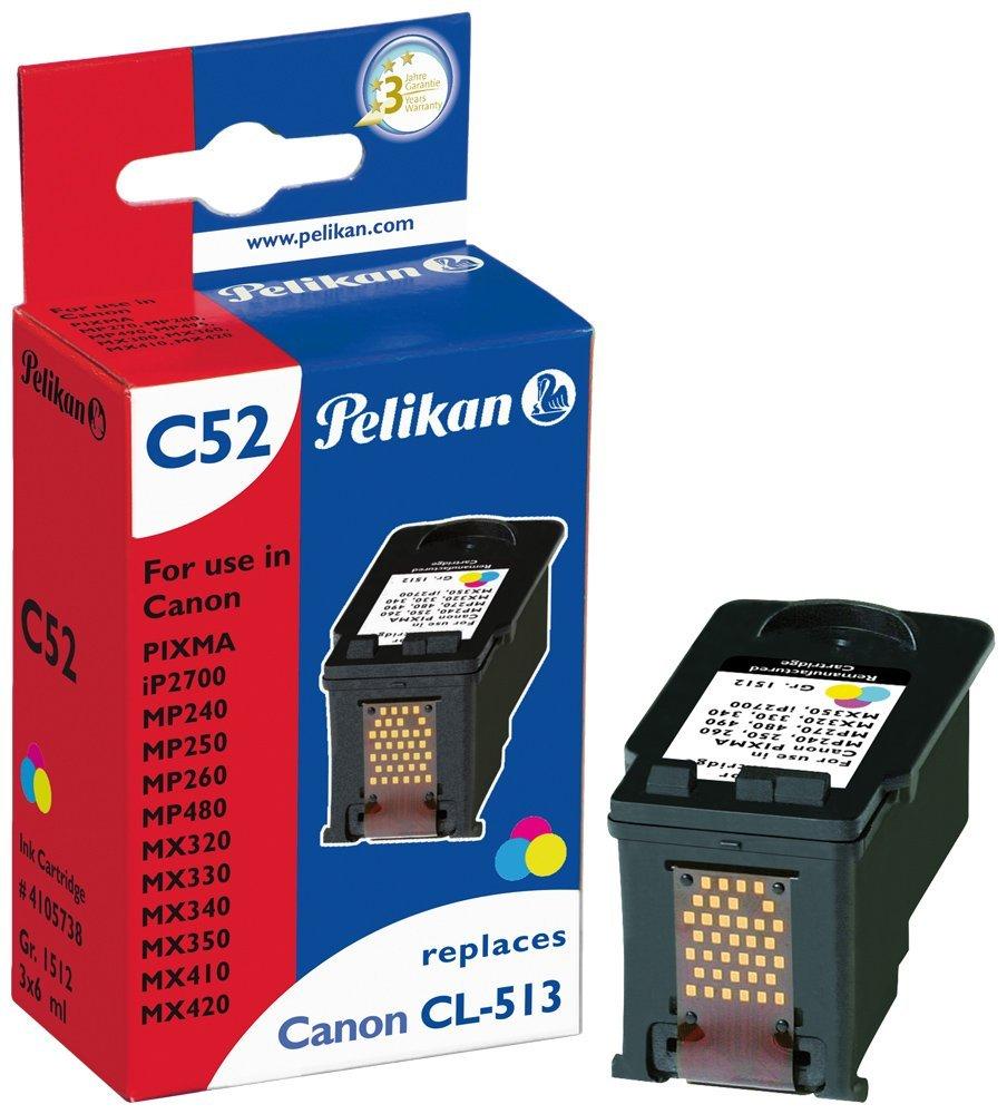 Pelikan Patrone C52 für CL-513 Canon Pixma iP2700 etc. 3 x 6 ml