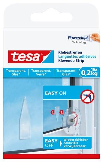 tesa Klebestreifen transparent, Glas, 16 x 0,2 kg