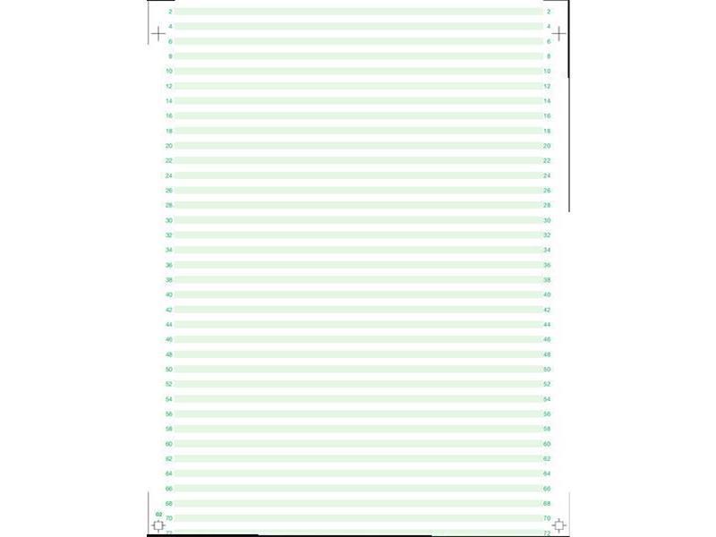 Tabellierpapier 20,3 cm x 33 cm 60g/m² Leselinien 1 fach