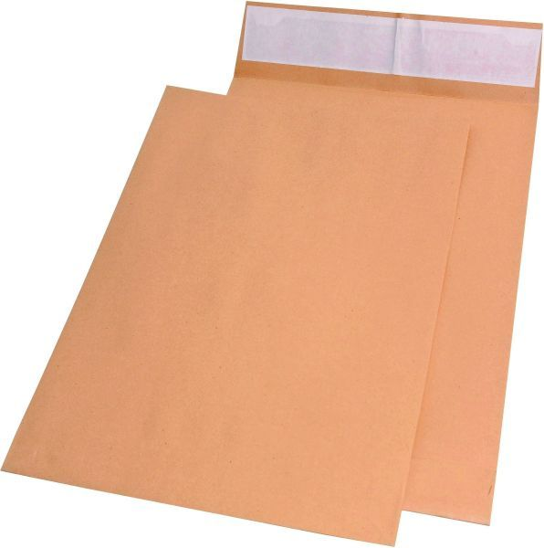 Elepa - rössler kuvert Faltentaschen E4, ohne Fenster, mit 40 mm-Falte und Klotzboden, 140 g/qm, bra