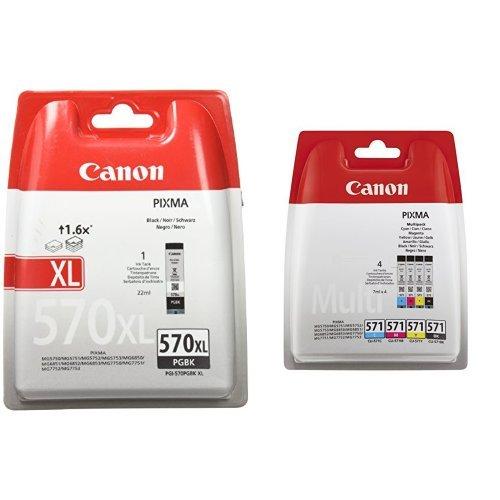 Original Canon Multipack PGI-570 PGBK / CLI-571 BK C  M Y Pixma