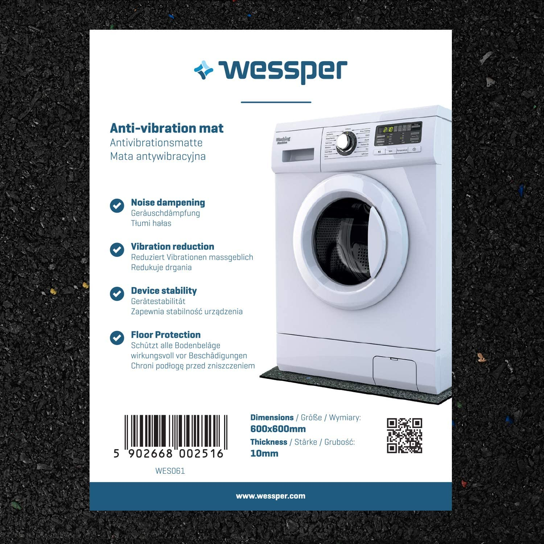 Wessper Hocheffiziente Antivibrationsmatte für Waschmaschinen, Lautsprecher usw. - zuschneidbar - vi
