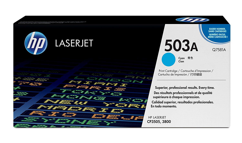 Vorschau: Original HP Toner Q7581A für COLOR LASERJET CP3505 / 3800 Serie cyan