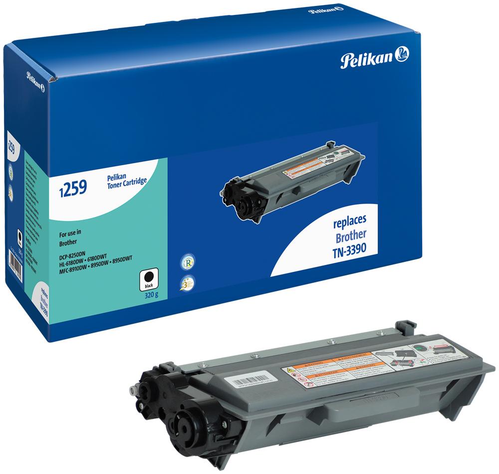 Pelikan Toner 1259 HC für TN-3390 Brother DCP-8250DN etc. Black