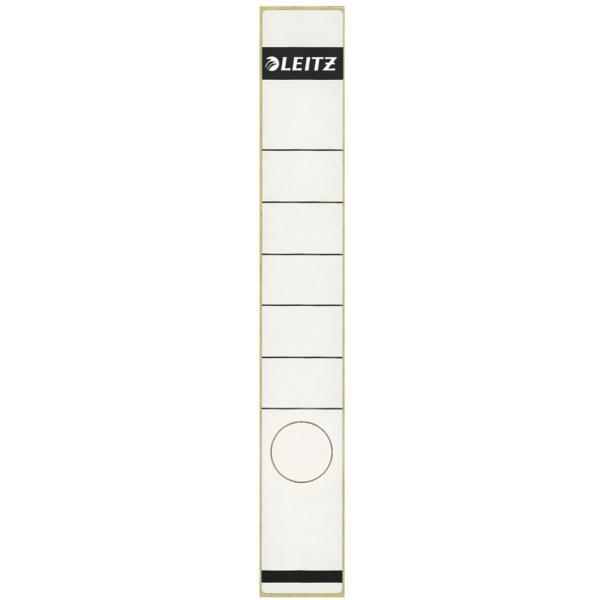 LEITZ 16480001 Rückenschild (lang, Aktendeckel, schmal) 10 Stück weiß