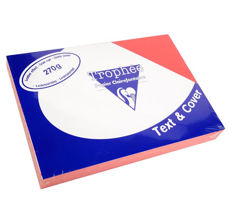 Clairefontaine Ledergeprägtes Papier 270 g/m² DIN-A4 Rot 100 Blatt