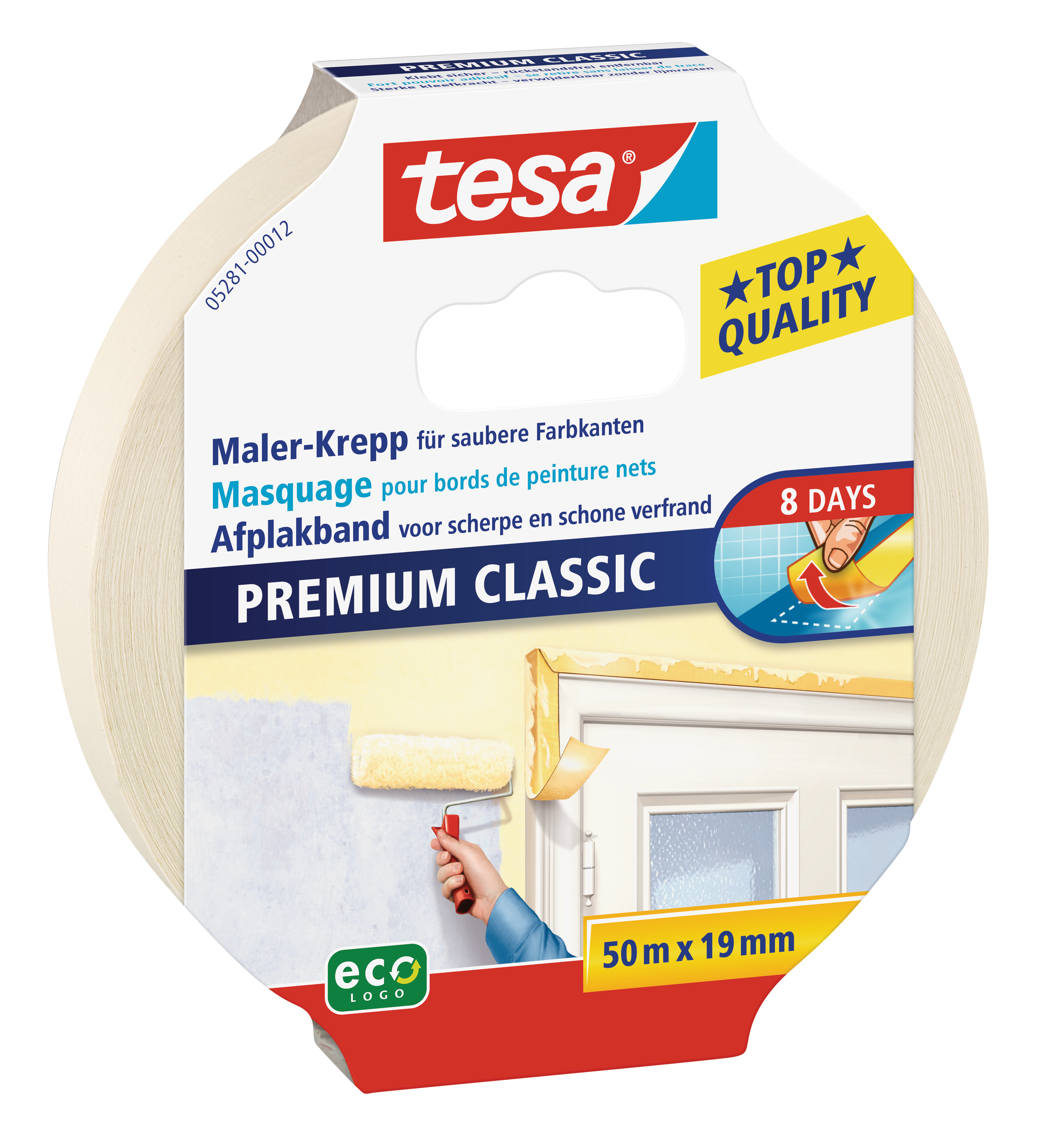 GP: 0,04 EUR/m tesa Maler-Krepp Premium Classic 50m x 19mm