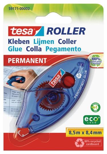 tesa Roller Kleben permanent ecoLogo Einwegroller ( Blister )