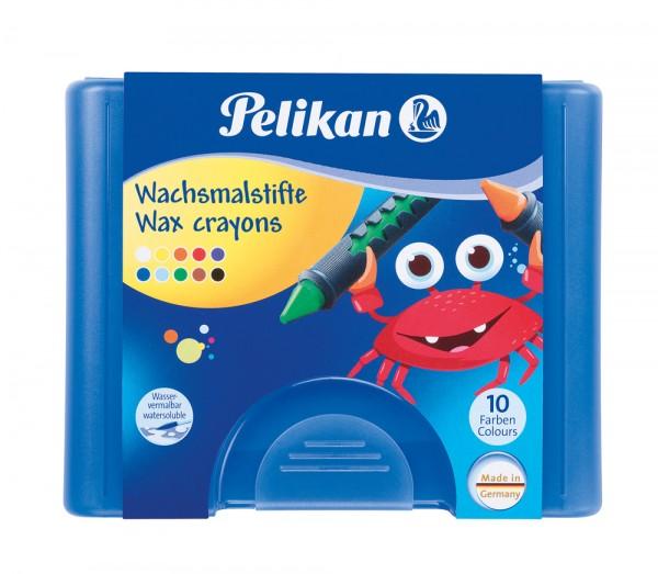 Pelikan Wachsmalstifte 10 Hülsenstifte und Schaber
