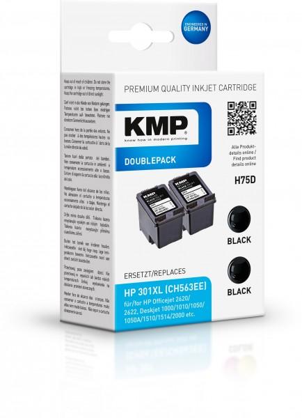 KMP Vorteilspack H75D für HP 301XL (CH563EE)