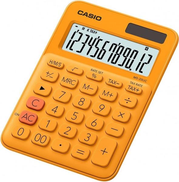 Casio MS-20UC-RG Tischrechner, 12-stellig, in zehn Farbvarianten, ORANGE