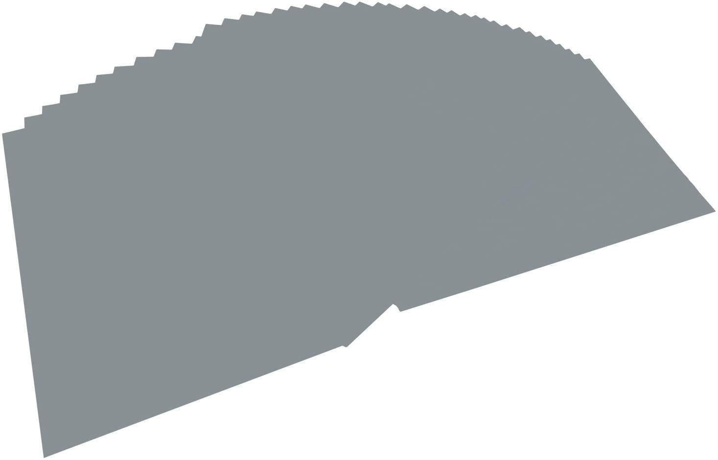 folia 6484 - Tonpapier steingrau, DIN A4, 130 g/qm, 100 Blatt - zum Basteln und kreativen Gestalten