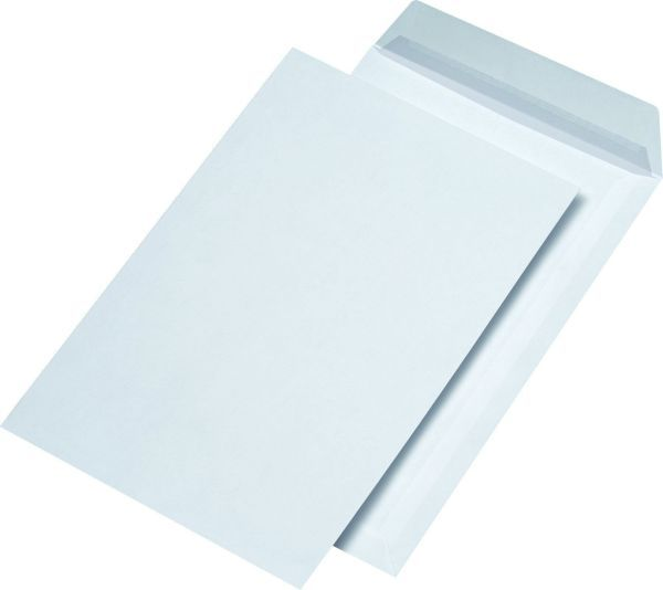 Elepa - rössler kuvert Versandtasche C4, blickdicht, ohne Fenster, haftklebend, 120 g/qm, weiß, 250