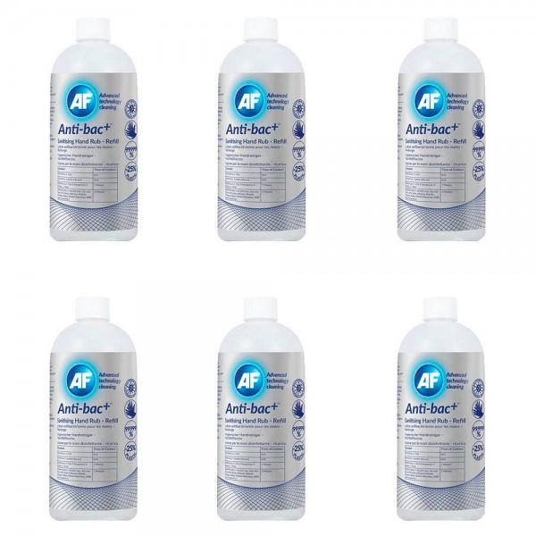 AF International Antic-bac+ Händedesinfektionsgel 6x 500ml. (GP 1,39€/100ml.)