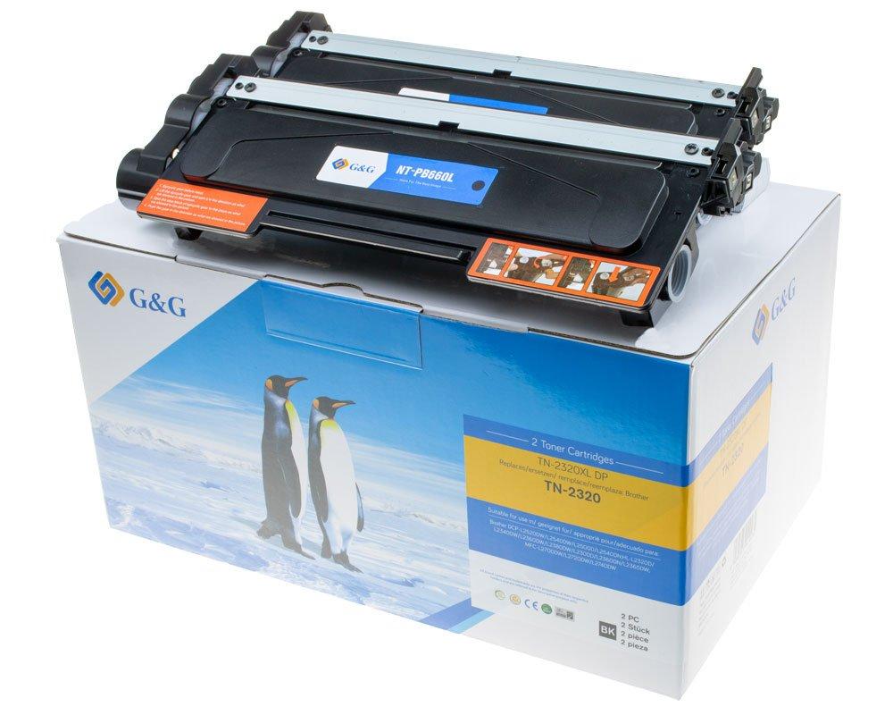 G&G Image XL-Toner -Doppelpack- kompatibel zu Brother TN-2320 Schwarz