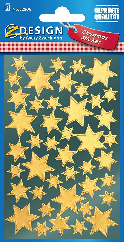Vorschau: AVERY Zweckform 52806 Weihnachtssticker Sterne 86 Aufkleber Z Design