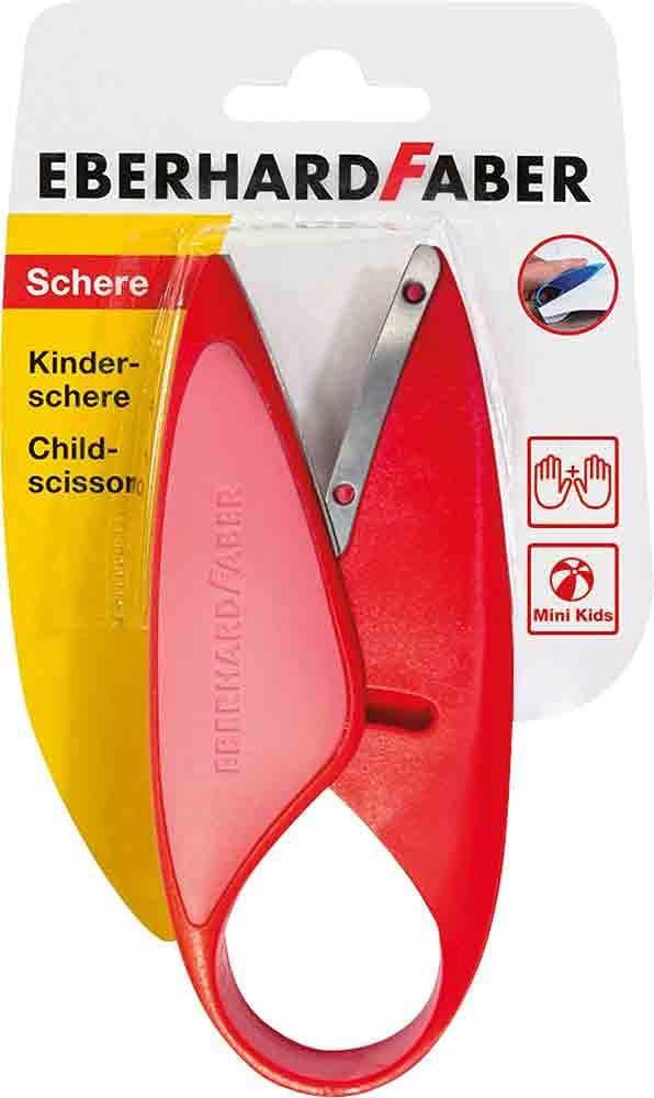 Eberhard Faber 579920 - Mini Kids Kinder-Schere in Rot, für Linkshänder und Rechtshänder geeignet, o