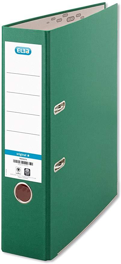 ELBA 100202219 Ordner smart Original Papier 8 cm breit DIN A4 Grün