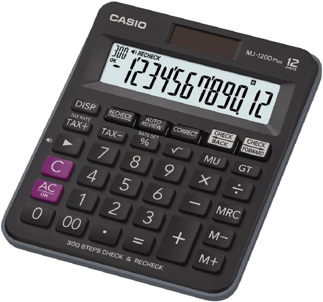 CASIO MJ-120D Plus Tischrechner kompakt mit Check & Correct Funktion