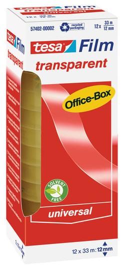 tesa transparent Office-Box 33m x 12mm 12 Rollen