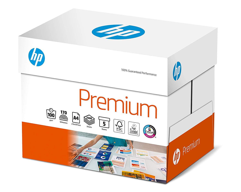 HP Premium Druckerpapier CHP852 - 90 g, DIN-A4, 2500 Blatt (5x500), weiß, Extraglatt