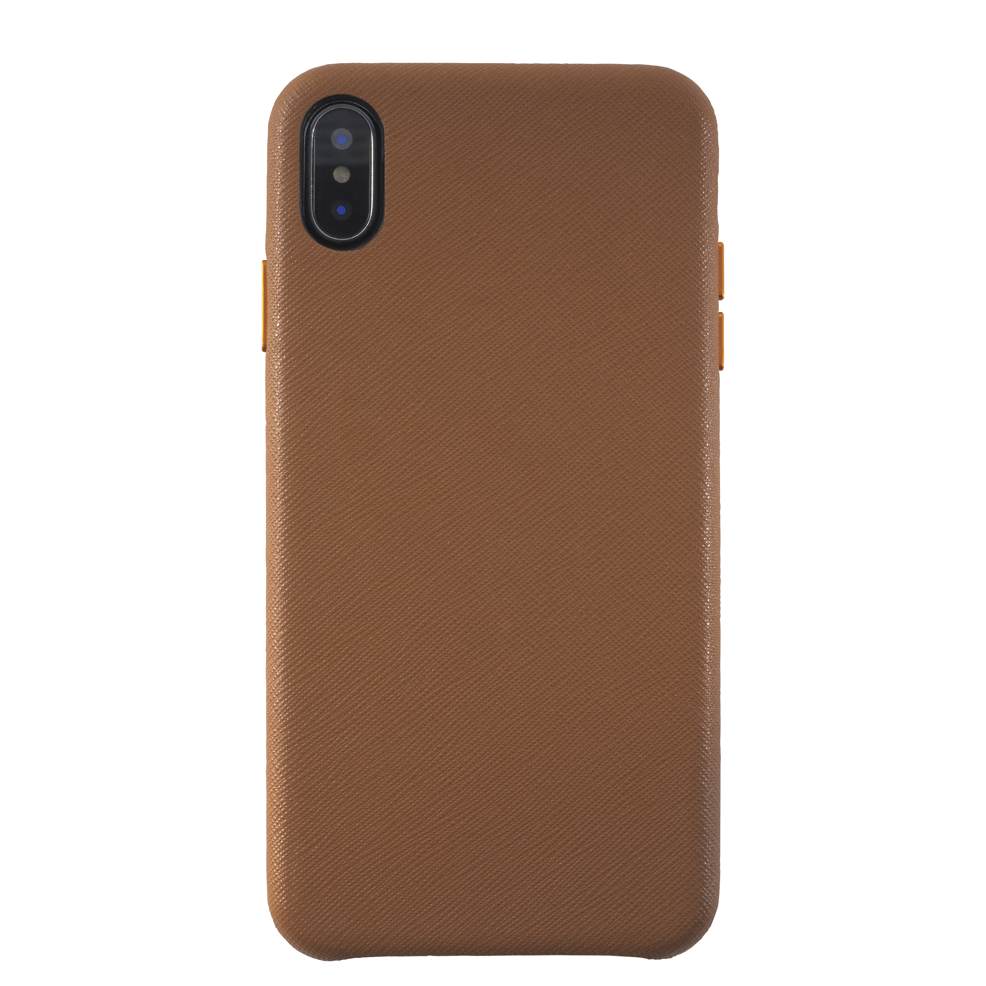 KMP Schutzhülle Leather Case für iPhone XS Max-meerkat brown