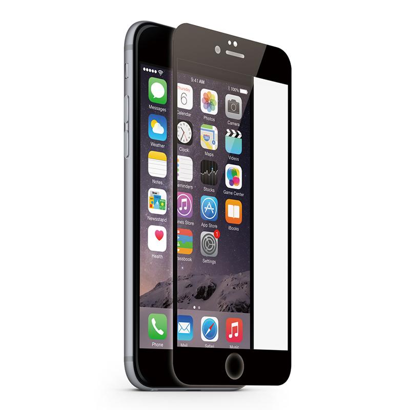 KMP Schutzglas für Apple iPhone 6, 6s schwarz / black