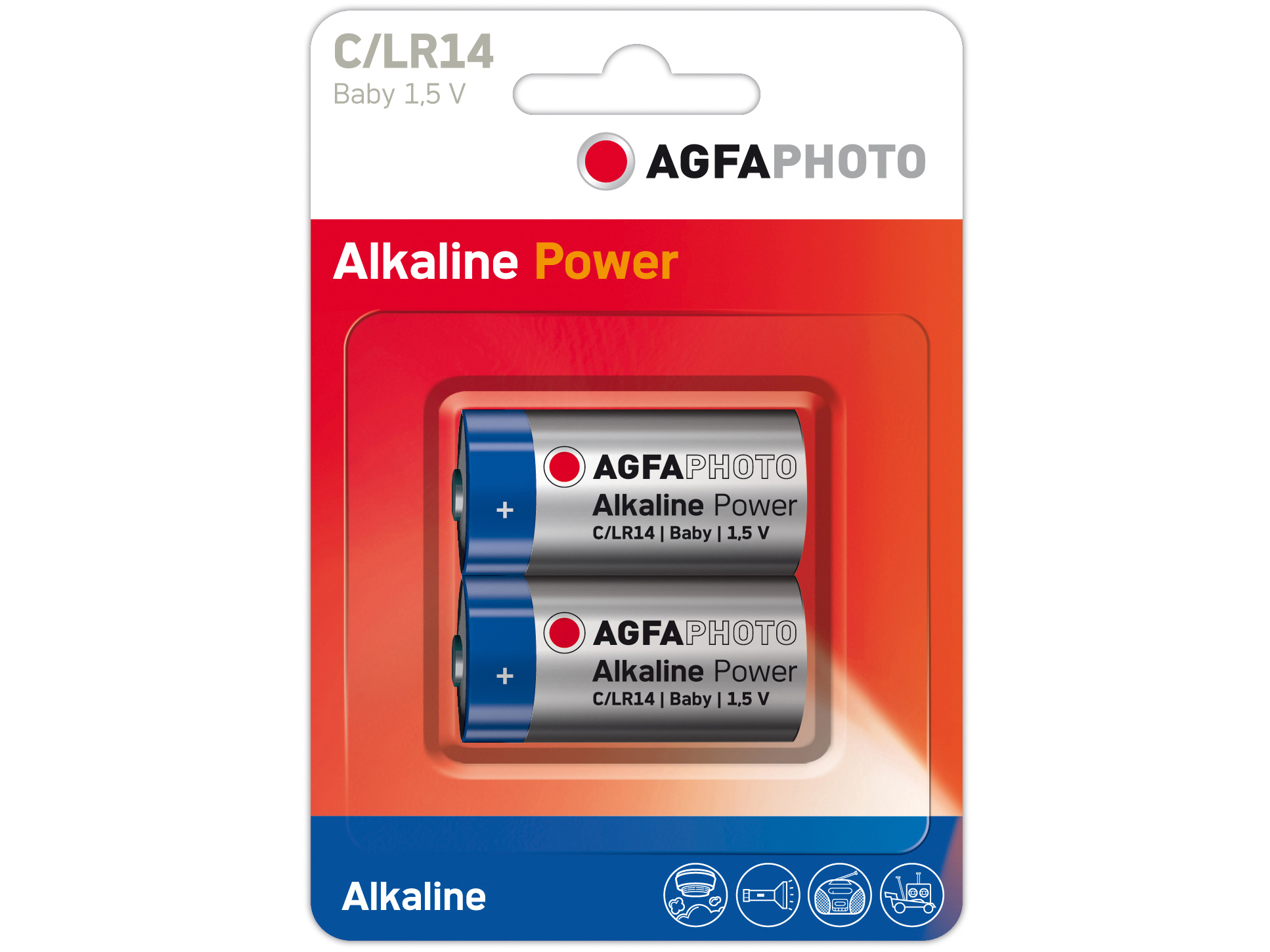 Agfa Photo Batterien LR14 1.5V Doppelpack