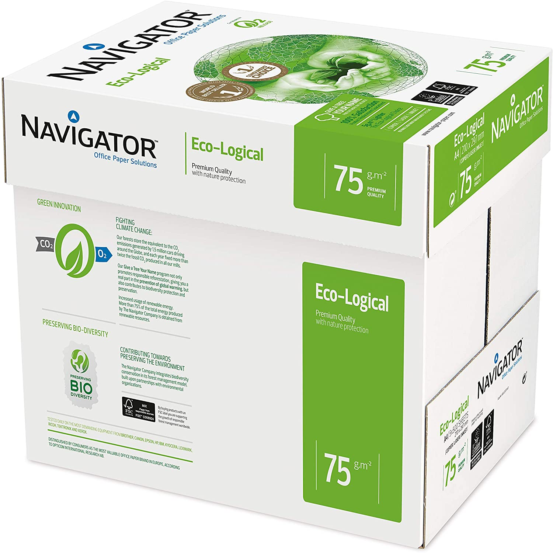 Navigator Eco-Logical Papier FSC eingeriest 75 g/m² A4 5 x 500 Blatt hellweiß