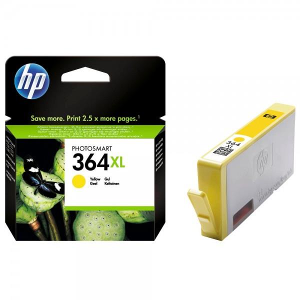HP 364XL Gelb Original Druckerpatrone mit hoher Reichweite für HP Deskjet 3070A, 3520; HP Photosmart