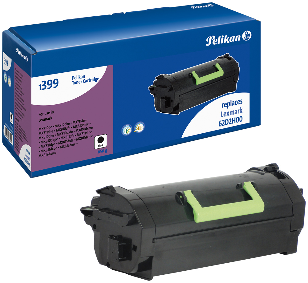 Pelikan Toner 1399 komp. zu 62D2H00 Lexmark MX710 de etc. black