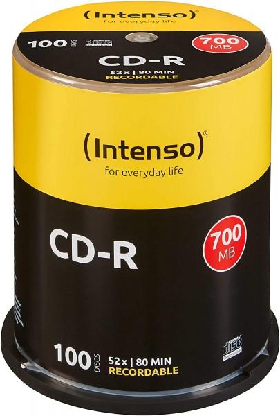 Intenso CD-R 100er Spindel 700MB 52x Speed CD-Rohlinge