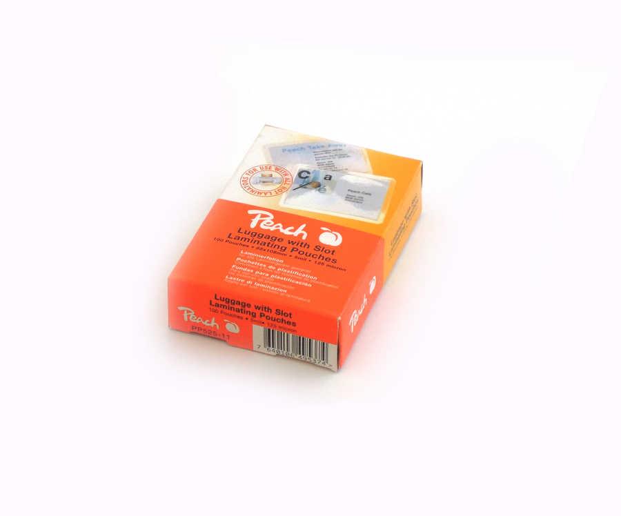 Peach PP525-11 Laminierfolien Gepack-Anhänger gelocht, 125 mic, 100 Stück