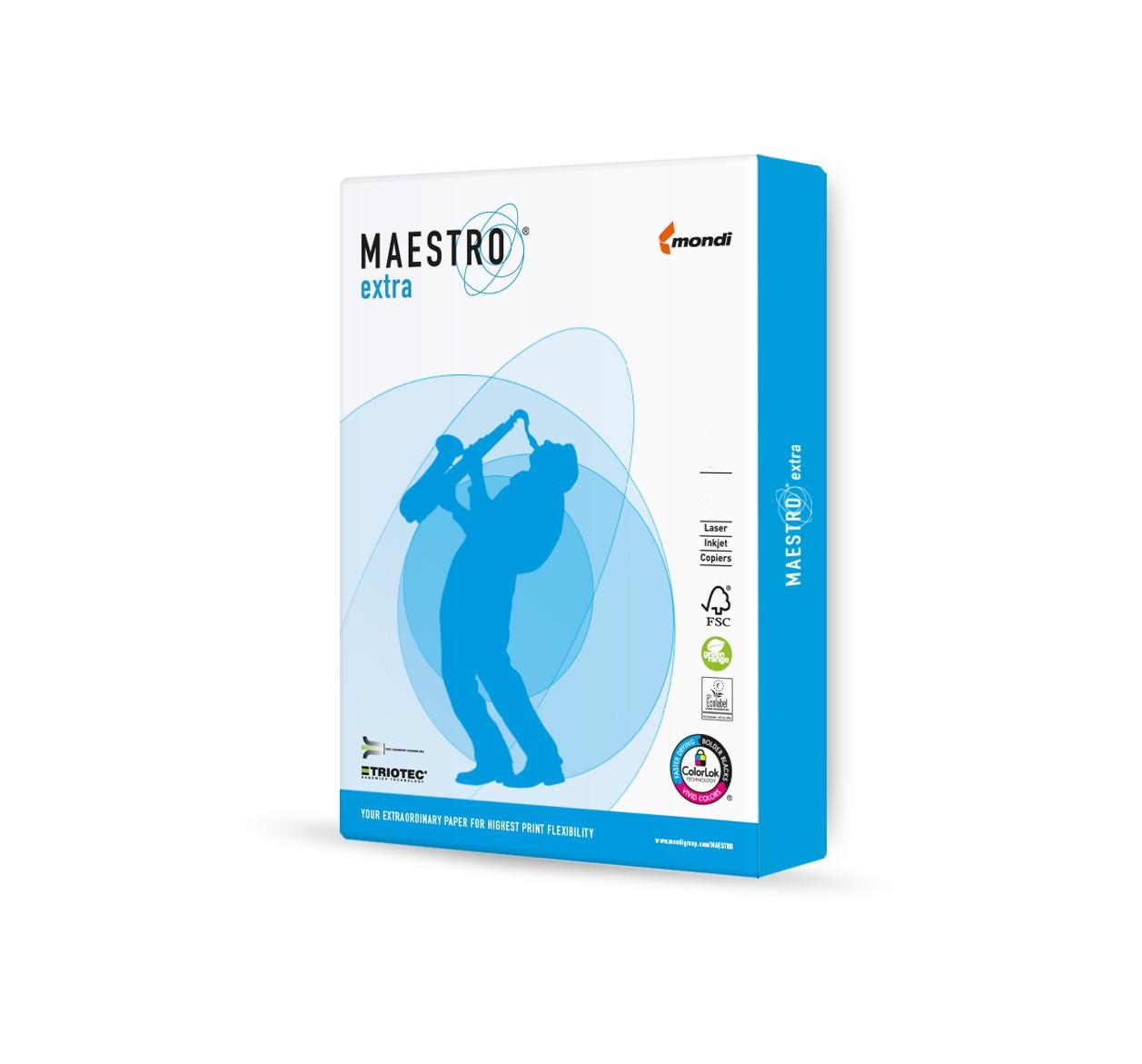 Maestro Extra 160g/m² Papier 250 Blatt DIN-A3 weiß
