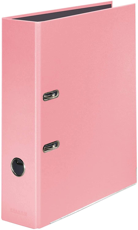 Original Falken PastellColor-Ordner. Made in Germany. 8 cm breit DIN A4 Pastell-Farbe Flamingo-Pink
