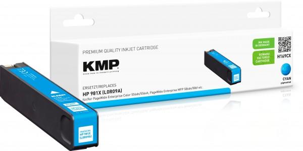 KMP H169CX cyan Tintenpatrone ersetzt HP Page Wide Enterprise HP 981X (L0R09A)