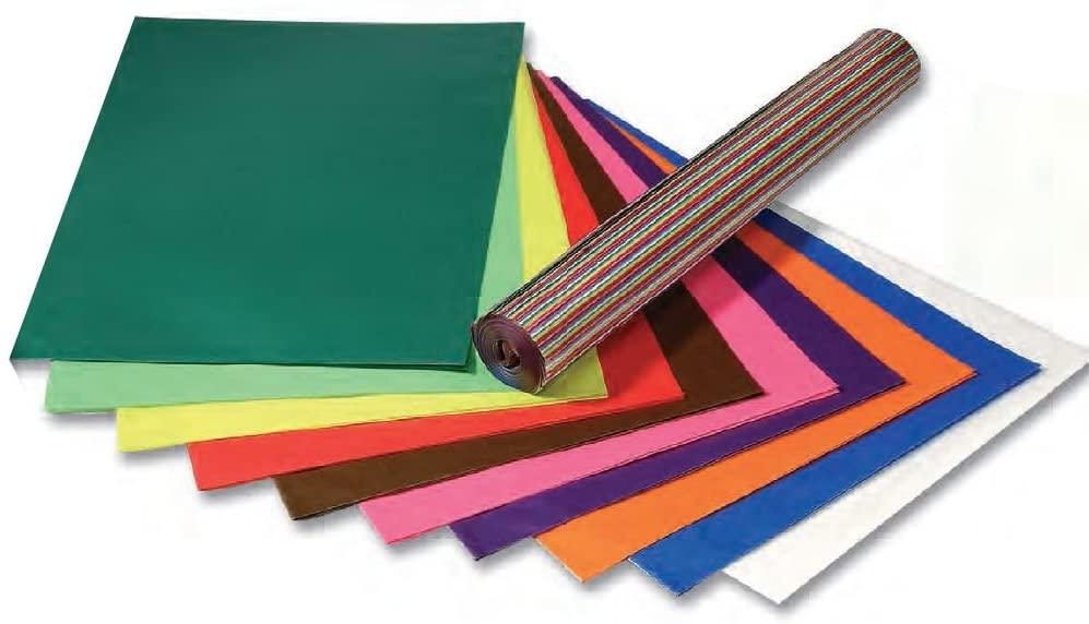 folia 82523 - Transparentpapier, altrosa, 25 Blatt, 42g/m², ca. 70 x 100 cm