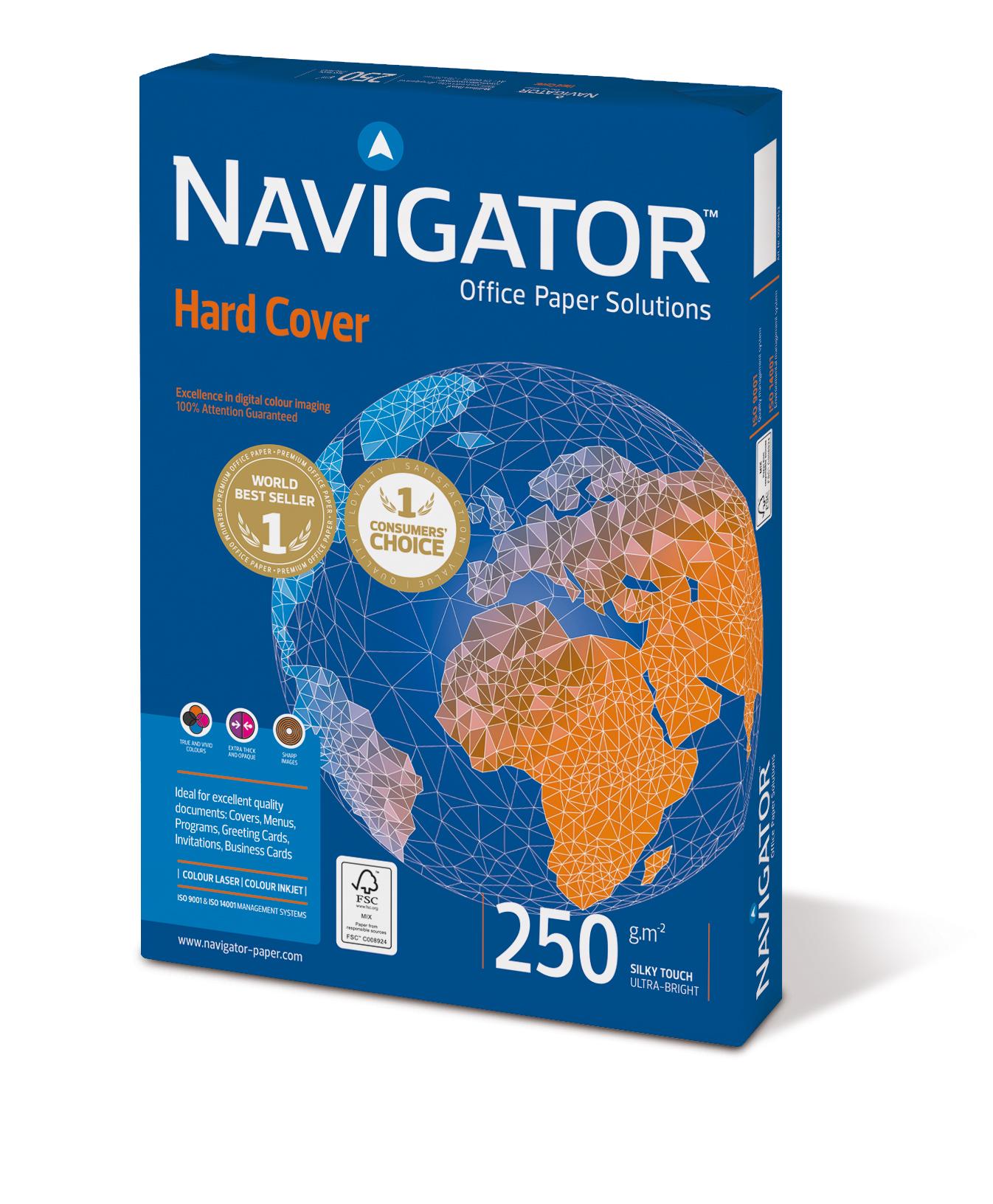 Navigator Hard Cover Kopierpapier 250g/m² DIN-A4 125 Blatt weiß
