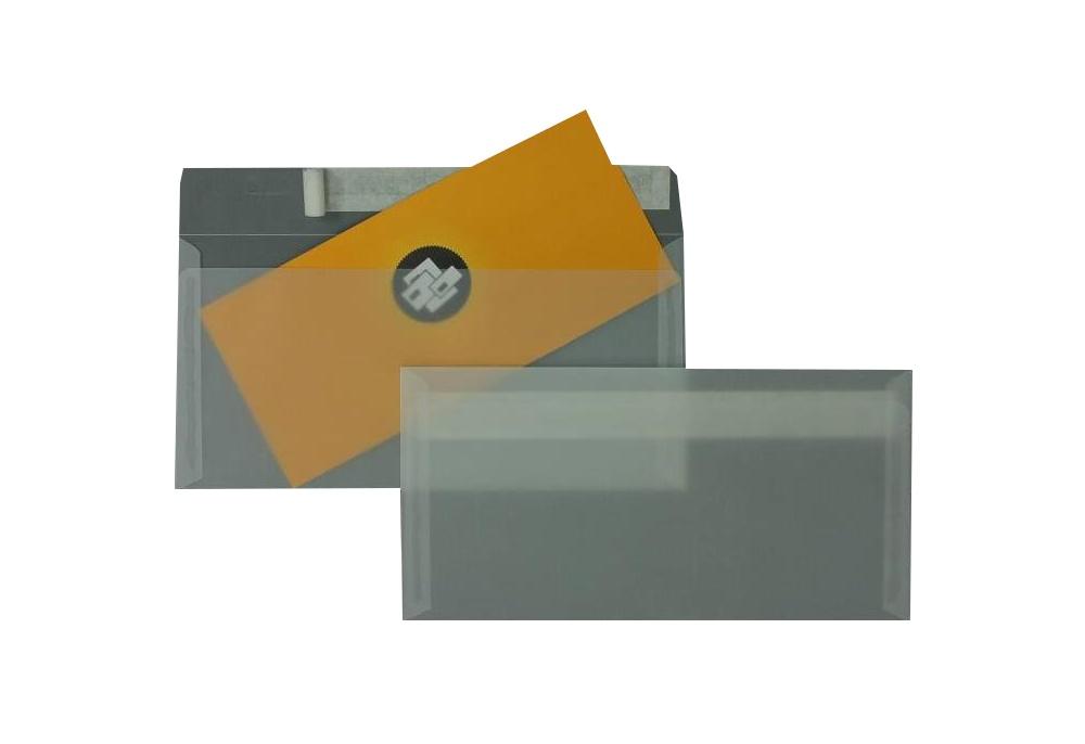 500 Stück Transparentumschlag Haftklebung DIN-Lang 90 g/m²