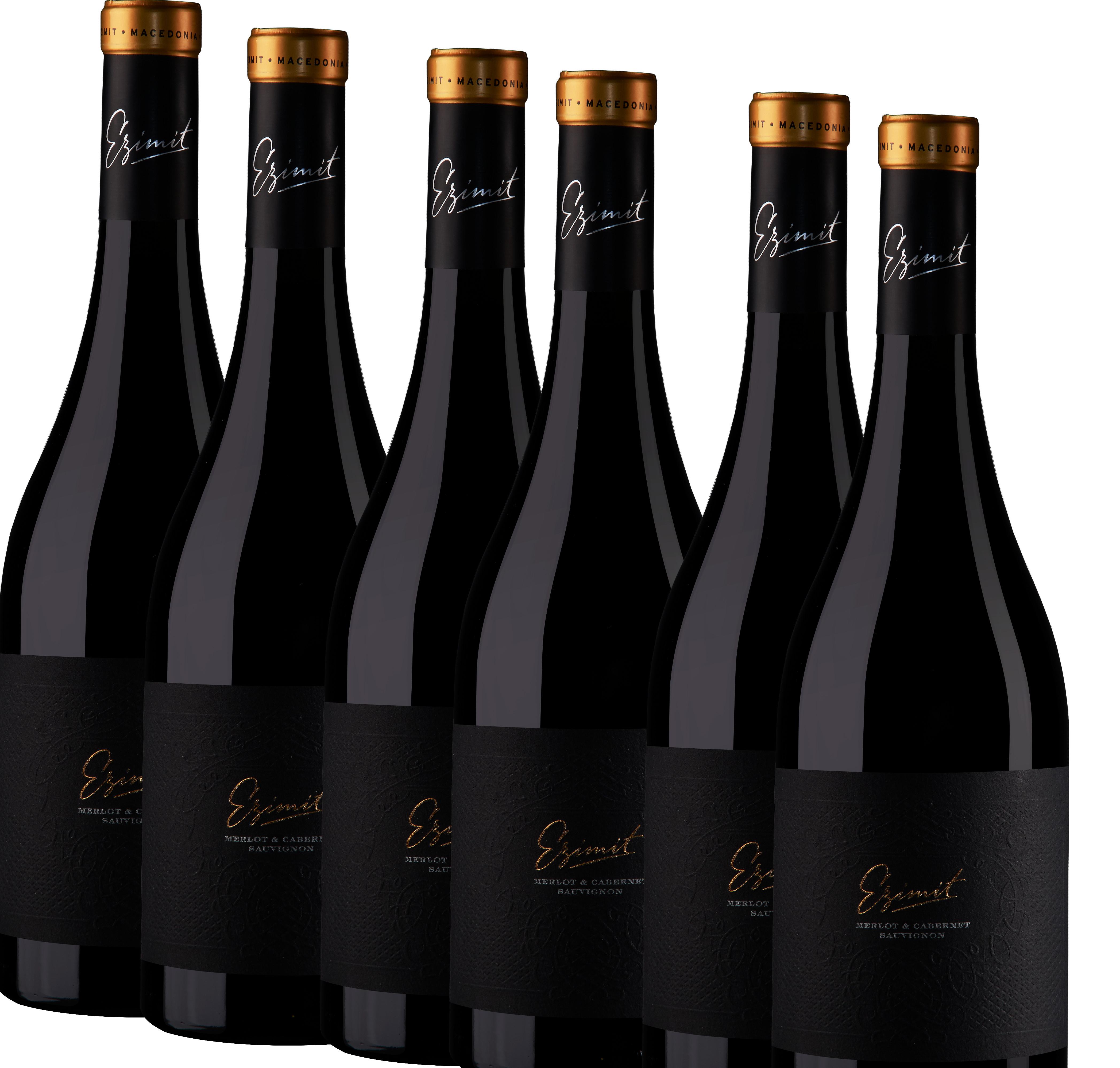 6x 0,75L Ezimit Merlot & Cabernet Sauvignon Rotwein trocken 2018 - 14,0% - 7,31€/L