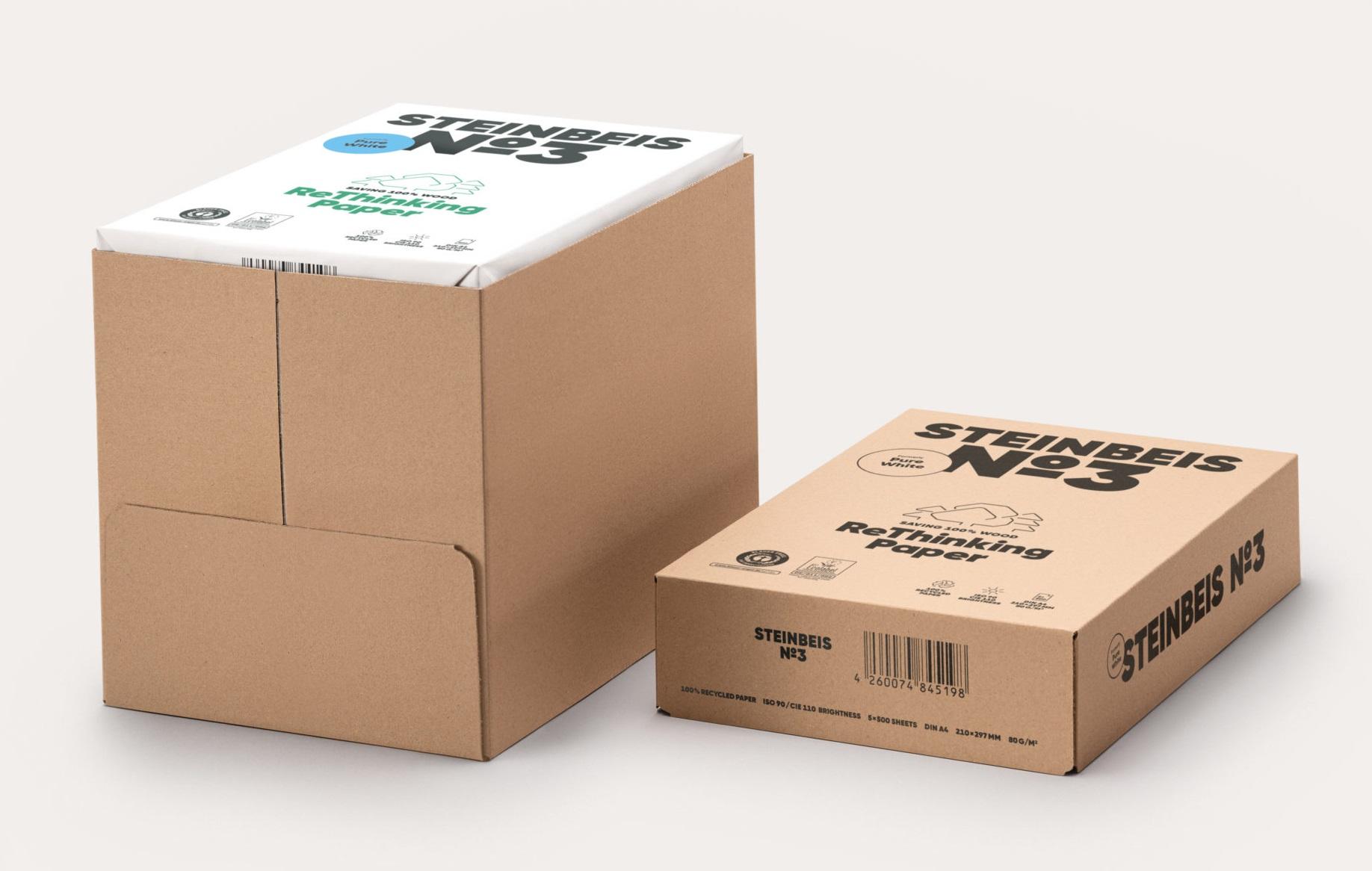 2500 Blatt Steinbeis No 3 - Pure White 80g/m² DIN-A4 100% Recycling