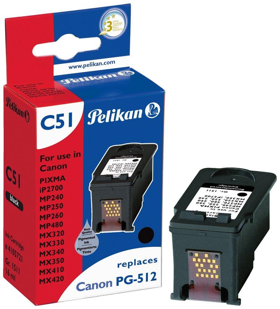 Pelikan Patrone C51 für PG-512 Canon Pixma iP2700 etc. black pigment