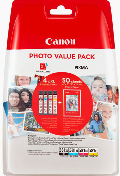 Original Canon CLI-581 XL TS6150 Multipack CMYK 4x8,3ml