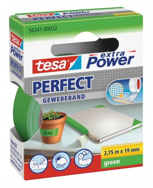 GP: 0,72 EUR/m tesa extra Power Perfect Gewebeband grün 2,75m x 19mm