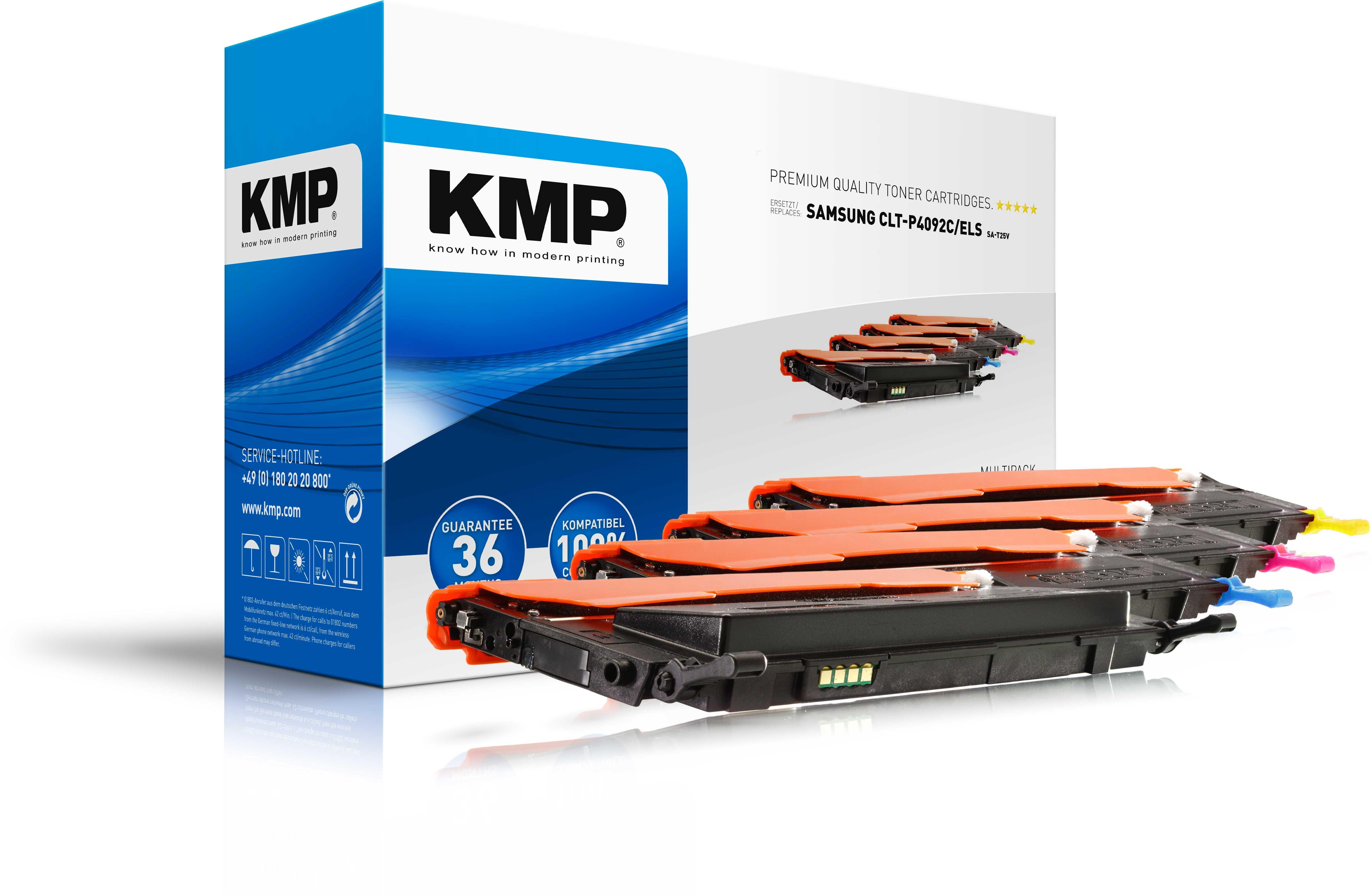 Vorschau: KMP Vorteilspack SA-T25-T28 für Samsung CLT K4092 C4092 M4092 Y4092